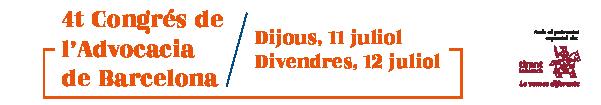 4t Congrés de l'Advocacia de Barcelona (2019)